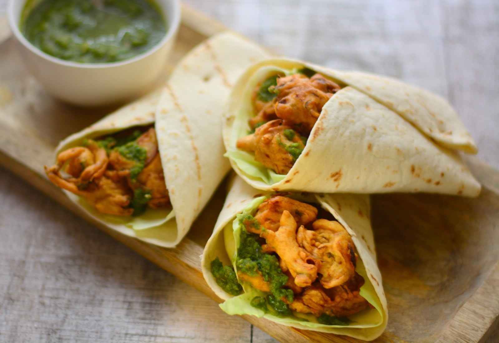 pakora wrap recipe